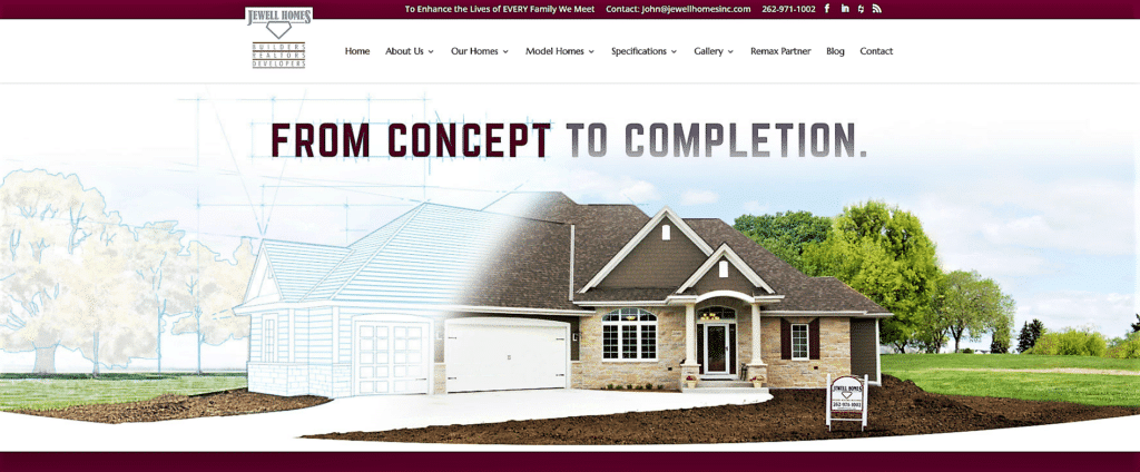 new website of Jewell homes